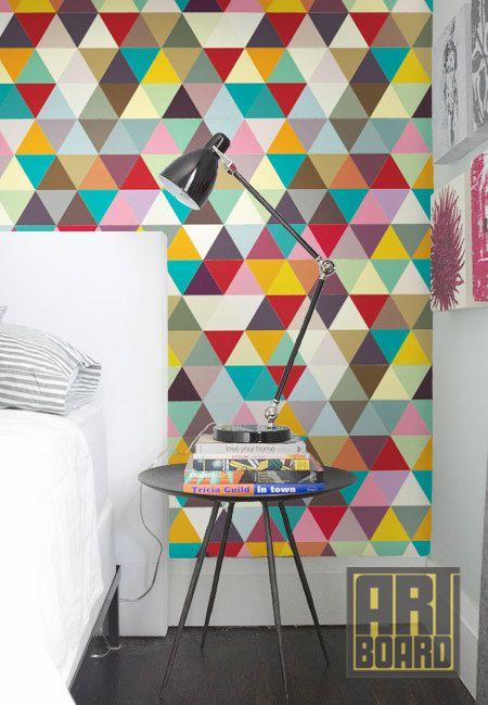 Papel de parede colorido e geométrico – Design Culture