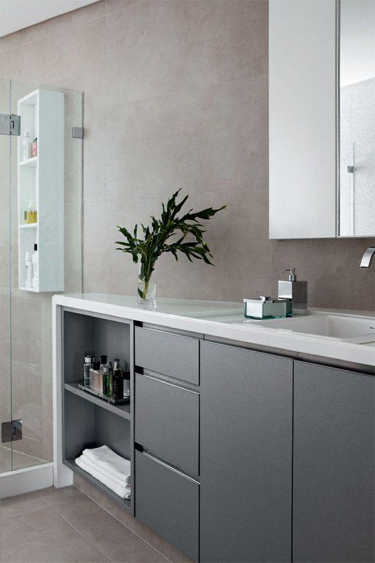 Decoração moderna com cimento queimado – Design Culture -> Nicho Banheiro Marmoglass